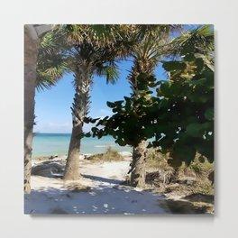 Ana Maria Island Palms Metal Print
