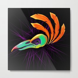 Bird Skull Metal Print