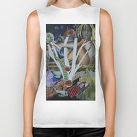 mythology Biker Tanks featuring Pyramus & Thisbe Collage Mythology Romeo and Juliet by FountainheadLtd