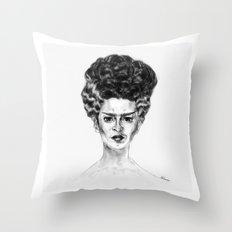 Frida Frankenstein Throw Pillow