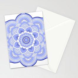 Periwinkle Mandala Flower Stationery Cards
