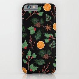 Christmas Foliage iPhone Case