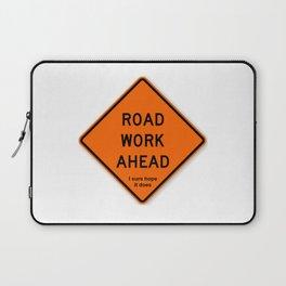 Road Work Ahead Meme Laptop Sleeve