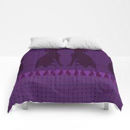 PURPLE WEIMARANER Comforters