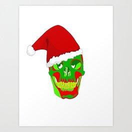 The Death Of Christmas - Santa's Skull  Art Print