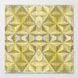 Geometric 3D Diamond Yellow Gold Print Canvas Print