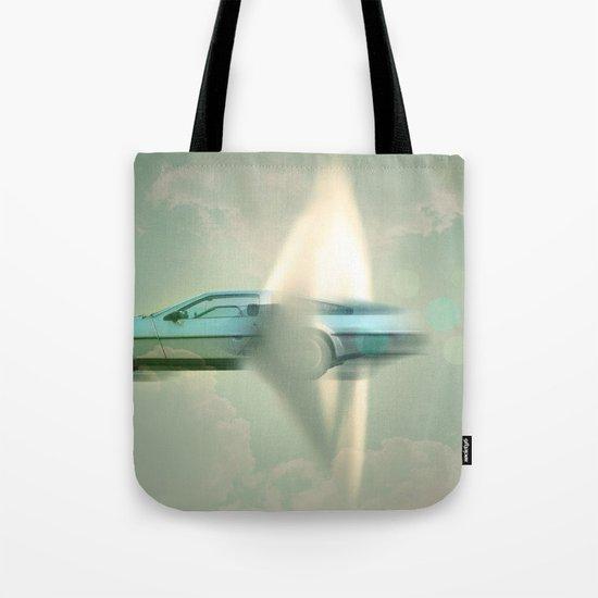 Supersonic Delorean Tote Bag