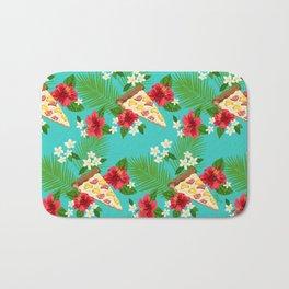 Hawaiian Pizza in a Hawaiian Print Bath Mat