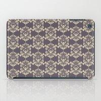 damask iPad Cases featuring Damask aubergine by Carolina Abarca
