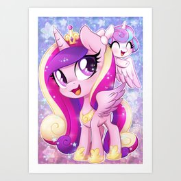 Little Princess Cadance and Flurry Heart Art Print