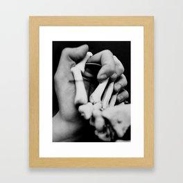 Holding Death's Hand Framed Art Print
