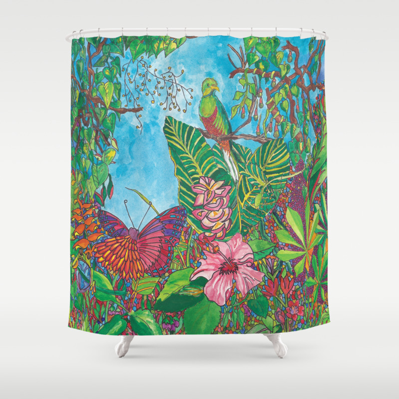 Rainforest shower curtain - Rainforest Shower Curtain 44