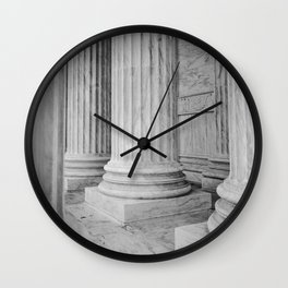 Columns at the US Supreme Court Wall Clock