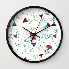 Egyptian Papyrus Flowers Wall Clock