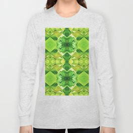 121 - green and yellow glass pattern Long Sleeve T-shirt