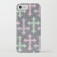 pastel goth iPhone & iPod Cases featuring Pastel Goth | Grunge Grey by Glitterati Grunge