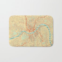 Cincinnati Map Retro Bath Mat