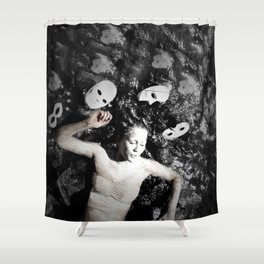 Masks Shower Curtain