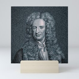 Gravity / Vintage portrait of Sir Isaac Newton Mini Art Print