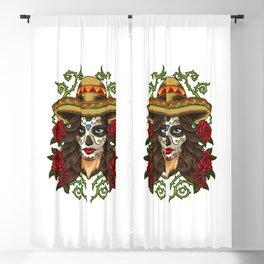 La Calavera Catrina - Lady of the Dead Blackout Curtain