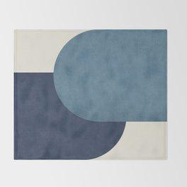 Halfmoon Colorblock - Blue Throw Blanket