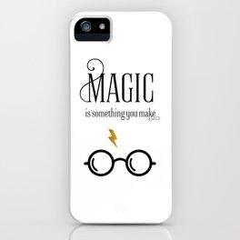 HP Print Art, magic is something you make, modern art Print iPhone Case