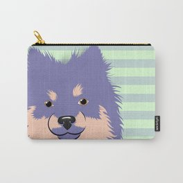Olie the Pomeranian in Purple Carry-All Pouch