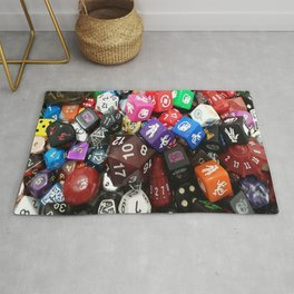 Dungeons and Dragons Dice Rug