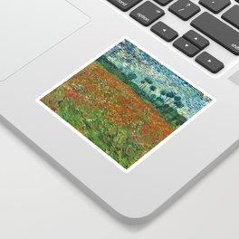 Vincent Van Gogh Poppy Field Sticker