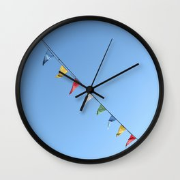 Colorful and minimal party Wall Clock