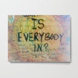 Is Everybody In Graffiti Morrison Room 32  Metal Print