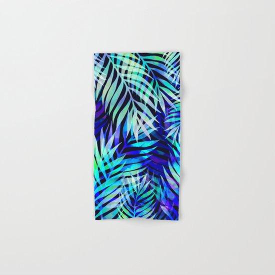 Watercolor palm pattern Hand & Bath Towel