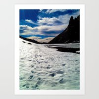 john snow Art Prints featuring Snow Path by John Monastero