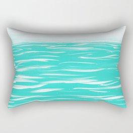 Sailing Across A Turquoise Sea Rectangular Pillow