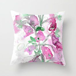 Foxgloves Fancy Throw Pillow