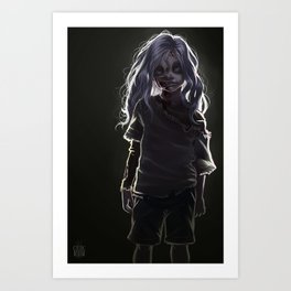 Zombie Boy (#Drawlloween2016 Series) Art Print
