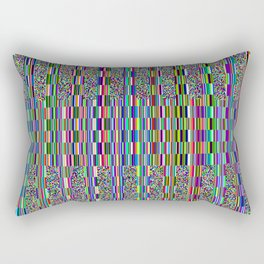 Old TV screen error glitch effect Rectangular Pillow