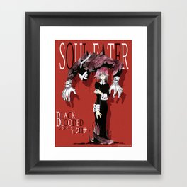 Black Blooded / Red Framed Art Print