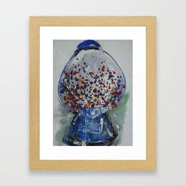 Exploding Gumball Machine Framed Art Print