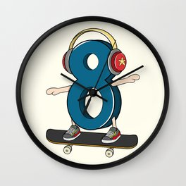 Sk8er (Skater) Wall Clock