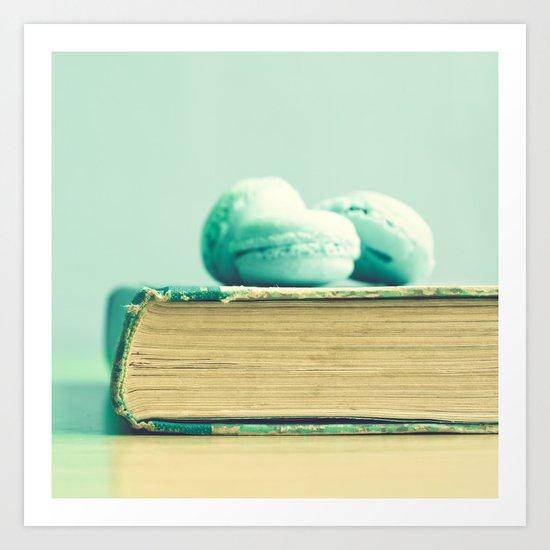 Sweet reading Art Print