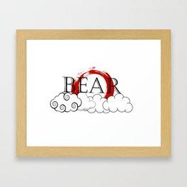 Bearcloud Framed Art Print