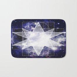 Sacred Geometry : Dark Blue Galaxy Bath Mat