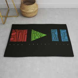 stop - play - pause Rug