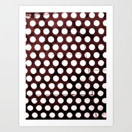 Metal Dots Art Print