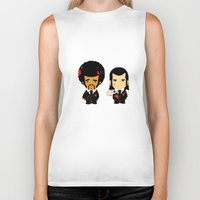 pulp Biker Tanks featuring pulp fiction by sEndro