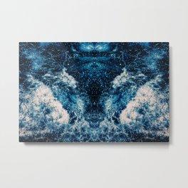 Mirrored Waves Metal Print