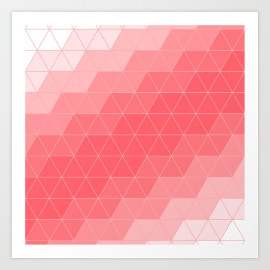 Triangle Coral Art Print