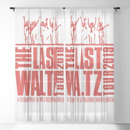 The Last Waltz Celebration Of The Band Farewell Sheer Curtain