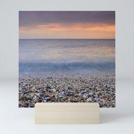 """Serenity sea"". Calm days at the sea Mini Art Print"